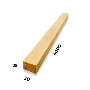 Рейка 25х50х6000 (Сосна)