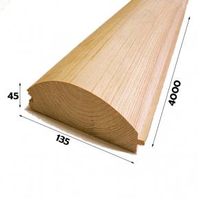 Блок хаус 45х135х4000 (Сосна)